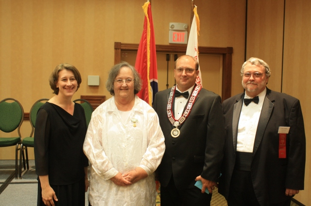 After the Installation Ceremony , pictured left to right is, Sherra Kinder, Deputy Grand Master; Karen Hamilton, Rebekah Assembly President; Lonnie Jones, Grand Master & Roy Climer, Grand Warden.