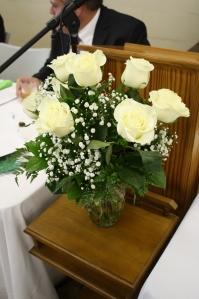 White Roses, chosen flower of the GM and President.